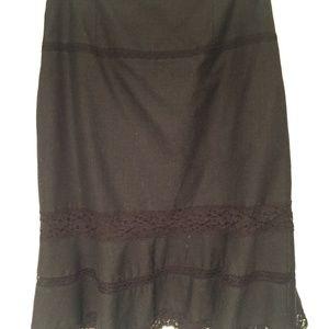 Free People Black Wool Skirt